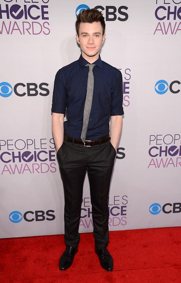Chris Colfer attends the 2013 People's Choice Awards  at Nokia Theatre L.A. Live on January 9, 2013 in Los Angeles, California.
