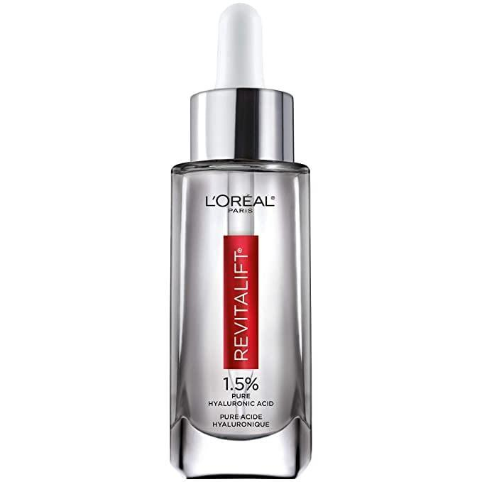 "<p>""My skin drinks up this serum like a tall glass of water. Because of that, it has become a staple in my nighttime skin-care routine. The smooth liquid consistency layers well with my other products and makes me skin feel instantly soothed and hydrated. I've tried other (more exspensive) alternatives but the <a href=""https://www.popsugar.com/buy/L%C3%A9al-Paris-Revitalift-Derm-Intensives-15-Pure-Hyaluronic-Acid-Serum-587559?p_name=L%27Or%C3%A9al%20Paris%20Revitalift%20Derm%20Intensives%201.5%25%20Pure%20Hyaluronic%20Acid%20Serum&retailer=amazon.com&pid=587559&price=23&evar1=bella%3Auk&evar9=40920323&evar98=https%3A%2F%2Fwww.popsugar.com%2Fbeauty%2Fphoto-gallery%2F40920323%2Fimage%2F47602293%2FLOr%C3%A9al-Paris-Revitalift-Derm-Intensives-15-Pure-Hyaluronic-Acid-Serum&list1=makeup%2Cbeauty%20products%2Ceditors%20pick%2Cbeauty%20shopping%2Cbeauty%20news%2Cdrugstore%20beauty%2Cskin%20care&prop13=api&pdata=1"" class=""link rapid-noclick-resp"" rel=""nofollow noopener"" target=""_blank"" data-ylk=""slk:L'Oréal Paris Revitalift Derm Intensives 1.5% Pure Hyaluronic Acid Serum"">L'Oréal Paris Revitalift Derm Intensives 1.5% Pure Hyaluronic Acid Serum</a> ($23) will always be one of my favorites."" - JH</p>"