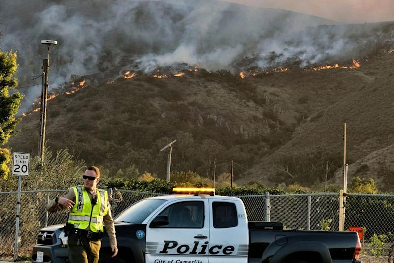 Wildfires in Newbury Park, Thousand Oaks