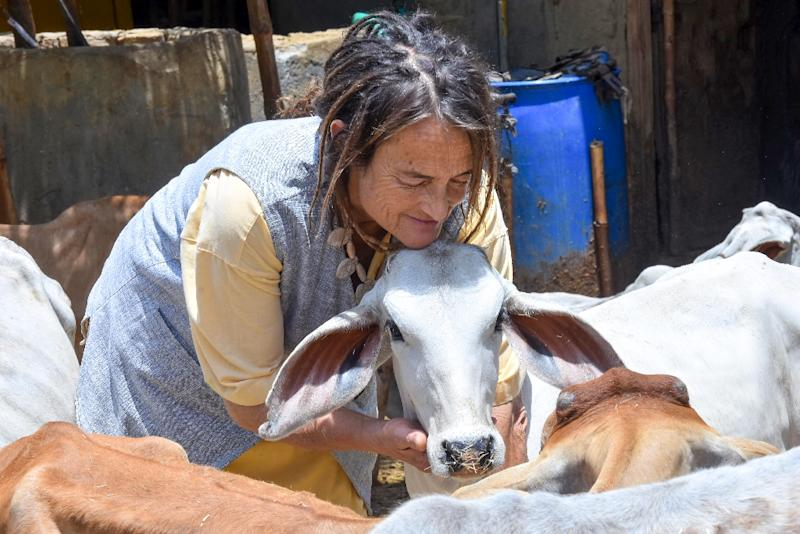 Friederike Bruening threatened last week to return an award for cow protection that she won, after her visa extension was denied
