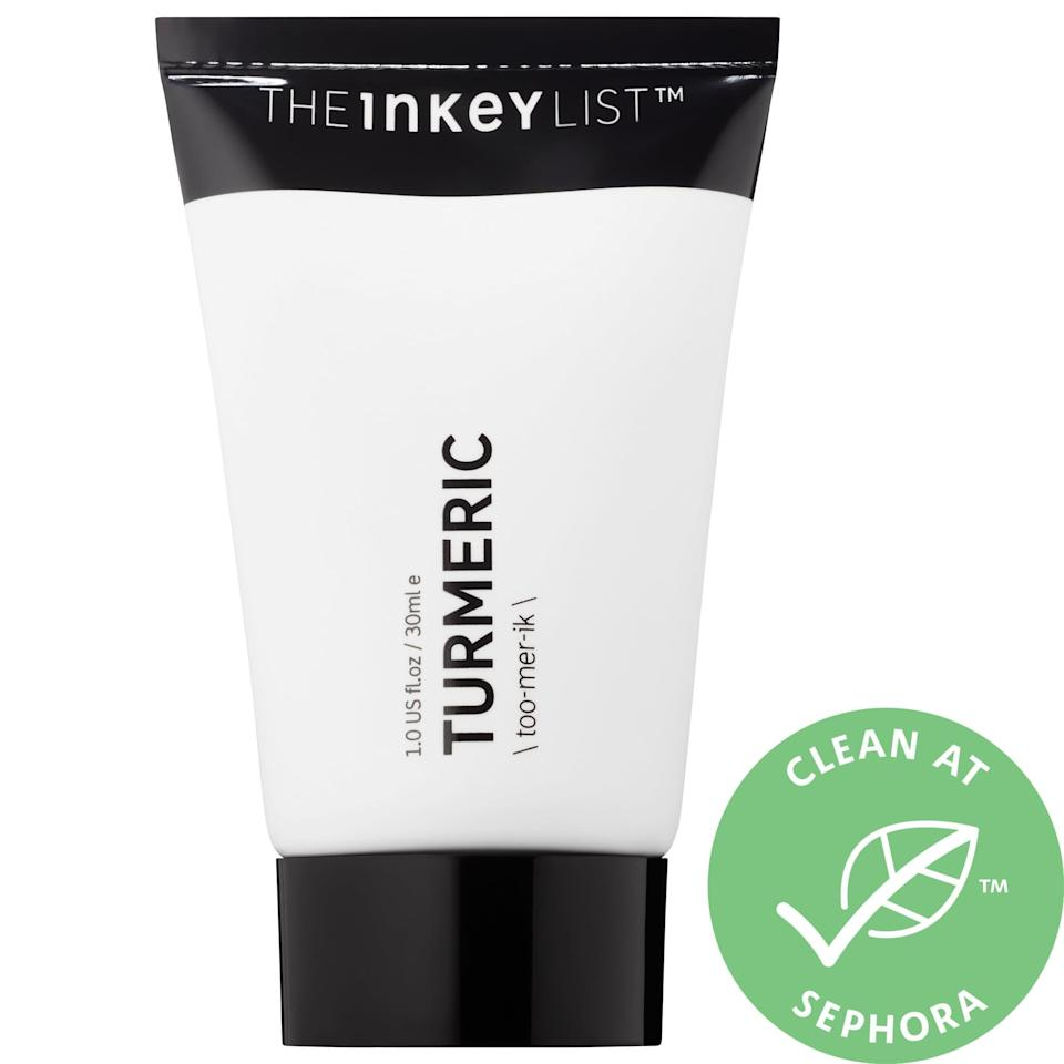 "<p><a href=""https://www.popsugar.com/buy/Inkey-List-Turmeric-Brightening-Moisturizer-582104?p_name=The%20Inkey%20List%20Turmeric%20Brightening%20Moisturizer&retailer=sephora.com&pid=582104&price=13&evar1=bella%3Aus&evar9=47550611&evar98=https%3A%2F%2Fwww.popsugar.com%2Fbeauty%2Fphoto-gallery%2F47550611%2Fimage%2F47550633%2FInkey-List-Turmeric-Brightening-Moisturizer&list1=sephora%2Cthe%20inkey%20list&prop13=mobile&pdata=1"" class=""link rapid-noclick-resp"" rel=""nofollow noopener"" target=""_blank"" data-ylk=""slk:The Inkey List Turmeric Brightening Moisturizer"">The Inkey List Turmeric Brightening Moisturizer</a> ($13) takes on redness and irritated skin with antioxidant-rich turmeric root extract and vitamin E.</p>"