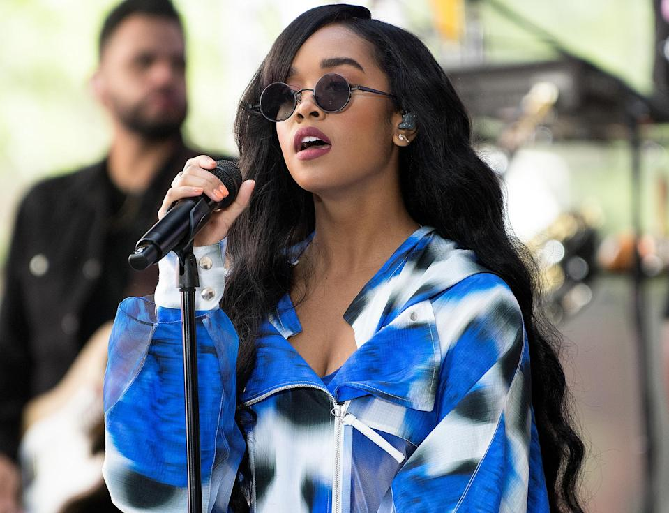 <p>H.E.R. performs on the <em>Today</em> show on June 25 at Rockefeller Plaza in N.Y.C.</p>