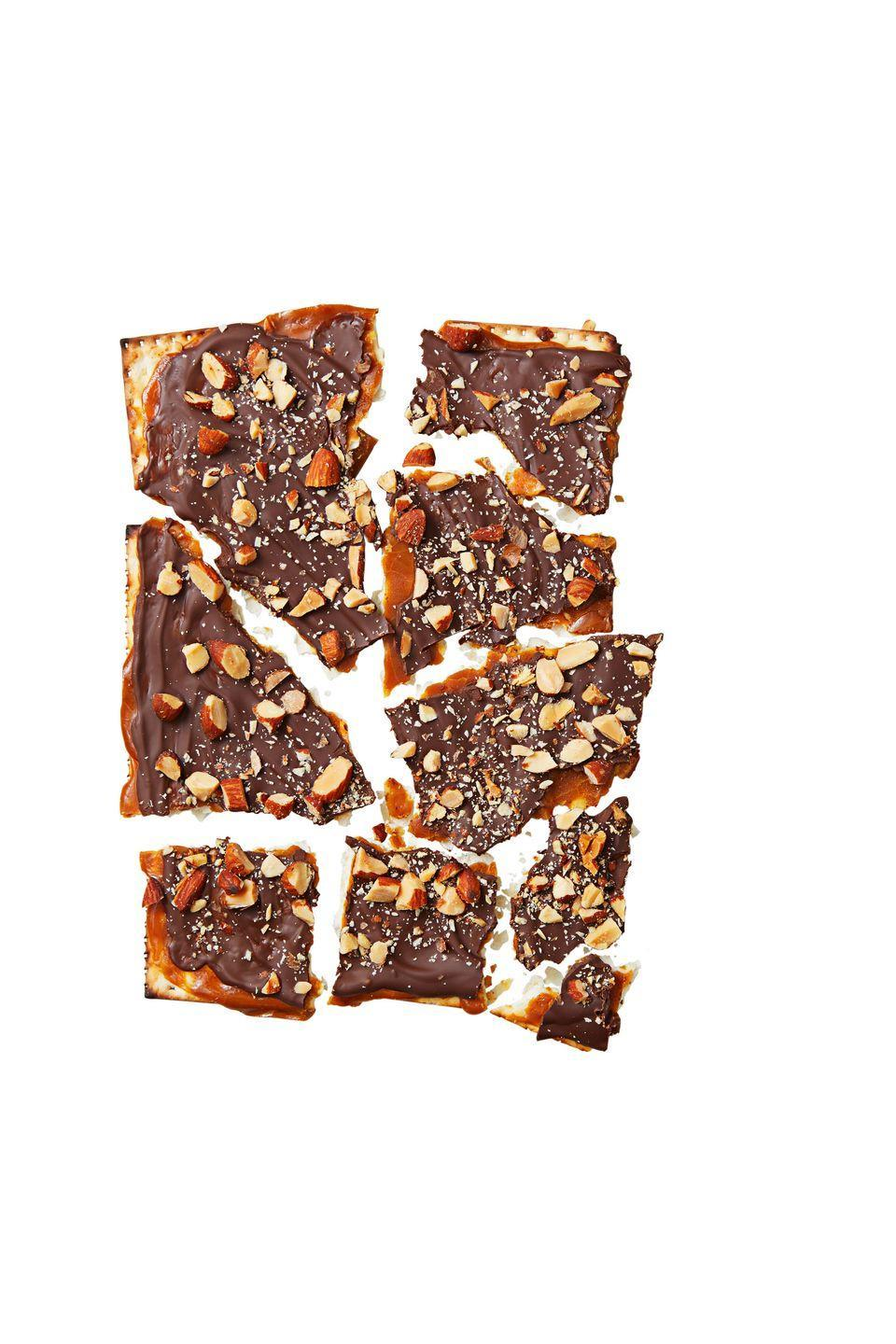 """<p>You'll be snacking on these sweet, crunchy treats all week long.</p><p><em><a href=""""https://www.goodhousekeeping.com/food-recipes/a37546/choco-caramel-matzo-brittle-recipe/"""" rel=""""nofollow noopener"""" target=""""_blank"""" data-ylk=""""slk:Get the recipe for Choco-Caramel Matzo Brittle »"""" class=""""link rapid-noclick-resp"""">Get the recipe for Choco-Caramel Matzo Brittle »</a></em></p>"""