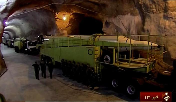 A video image showing missile launchers in a reported underground tunnel in Iran (AFP Photo/)