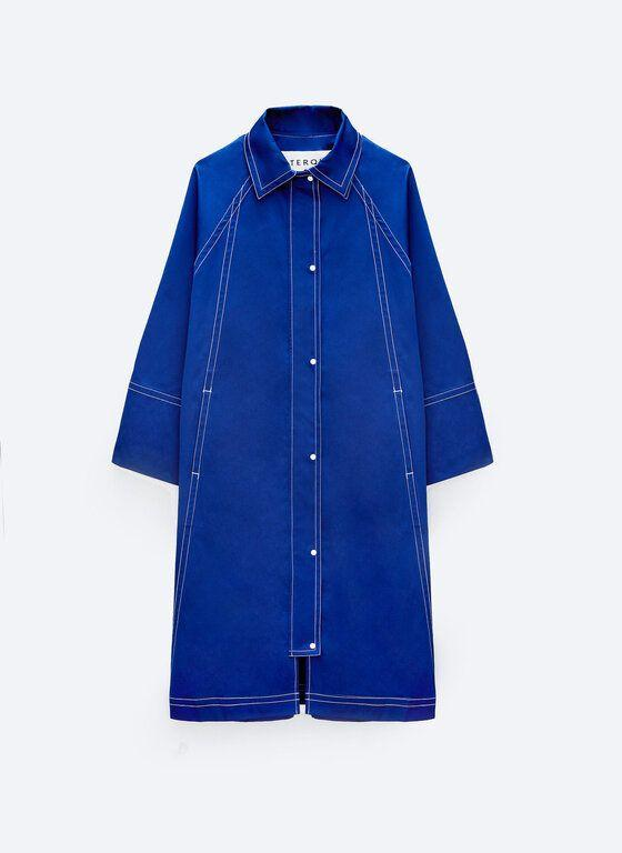 """<p><a class=""""link rapid-noclick-resp"""" href=""""https://www.uterque.com/gb/collection/coats-and-jackets/view-all/waterproof-parka-with-topstitching-c1864010p9131827.html?colorId=400&stylism=04&xmset=4"""" rel=""""nofollow noopener"""" target=""""_blank"""" data-ylk=""""slk:SHOP NOW"""">SHOP NOW</a></p><p>The perfect raincoat for a weekend in the city, this cobalt style features contrast stitching, a detachable hood and chic loose-fitting sleeves.</p><p>Waterproof parka with topstitching, £155, <a href=""""https://www.uterque.com/gb/collection/coats-and-jackets/view-all/waterproof-parka-with-topstitching-c1864010p9131827.html?colorId=400&stylism=04&xmset=4"""" rel=""""nofollow noopener"""" target=""""_blank"""" data-ylk=""""slk:Uterqüe"""" class=""""link rapid-noclick-resp"""">Uterqüe</a></p>"""