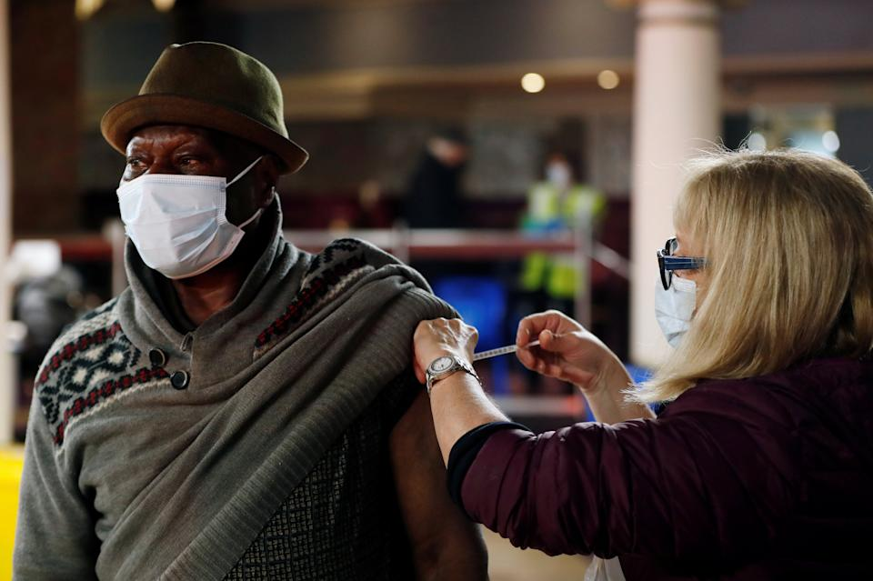 "<p>Dr Winston Morgan, of the University of East London, said that, despite opinion polls suggesting that up to 72 per cent of black people would shun a jab, there was ""no evidence"" of vaccines being refused in practice</p> (REUTERS)"