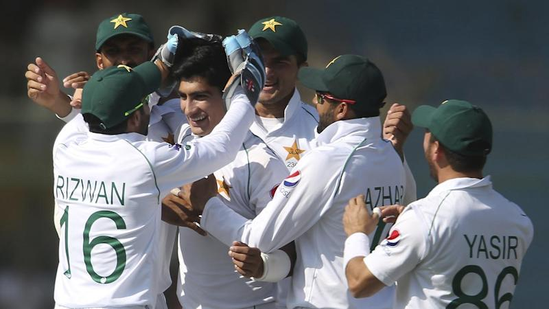 Pakistan have belted Bangladesh in the first Test, highlighted by a hat-trick for Naseem Shah (3L)