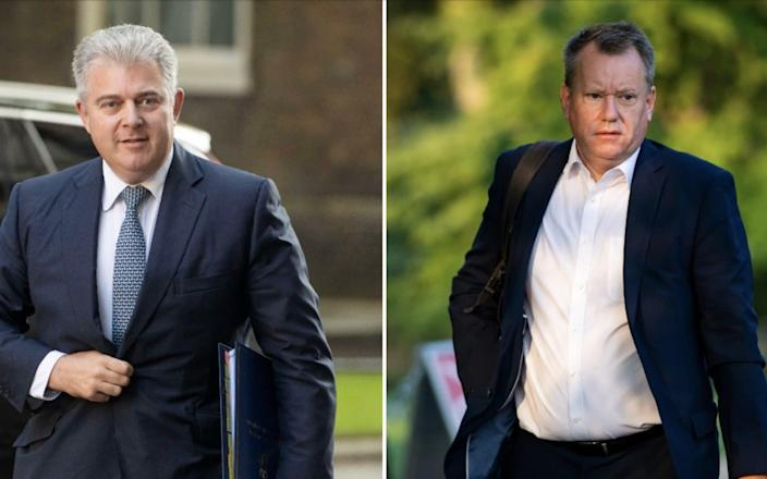 Brandon Lewis and Lord Frost will make clear that the talks over the Protocol are now in the 'last chance saloon', according to a source - Julian Simmonds for The Telegraph/PA