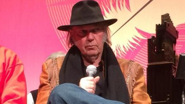 Neil Young spoke in advance of his concert in Regina.