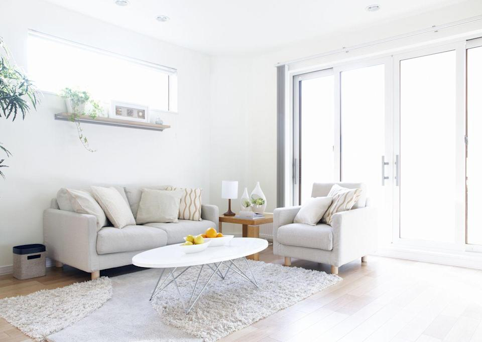 """<p>Sure, there's something to be said for a gorgeous, minimalist, all-white room. But pops of color (even in a mostly neutral room) always brighten things up and make a space look better. Many people just feel too intimidated to try it. """"I definitely do not mean every room needs to be 'bold,' per se, but all white or all beige spaces typically do not inspire. A well-considered and tasteful use of color - even if just on a focal wall - really enlivens a room,"""" says Jernigan. </p><p>Interior designer Mark Cutler of <a href=""""https://markcutlerdesign.com/"""" rel=""""nofollow noopener"""" target=""""_blank"""" data-ylk=""""slk:Mark Cutler DESIGN Inc"""" class=""""link rapid-noclick-resp"""">Mark Cutler DESIGN Inc</a> agrees. """"Color can take a lot of forms, you do not need to go crazy with it, but its addition can totally change how a room feels."""" He says that if you're feeling shy about trying it, paint the ceiling as a subtle way to add some color. """"One of my favorite colors for a ceiling is pink or lavender , both of them will give the room a warm neutral glow that makes skin tones look amazing...which makes it a great tool for livening up a bedroom."""" </p>"""