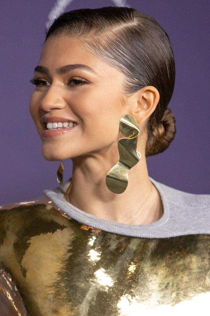 Zendaya pushed fashion boundaries while attending the 2021 Women in Film (WIF) last night. (Getty Images)