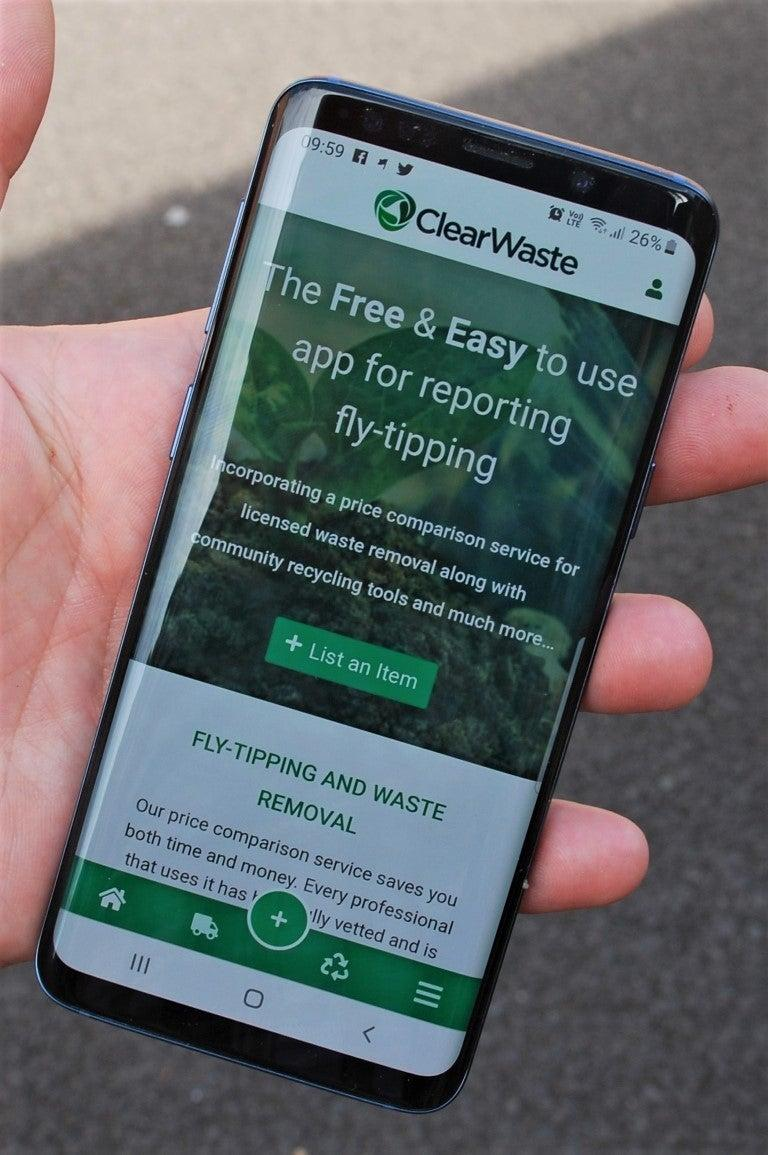 The app was launched in July. (ClearWaste)