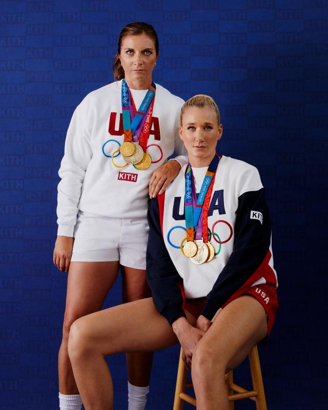 Misty May-Treanor and Kerri Walsh Jennings model in Kith's Team USA campaign. - Credit: Courtesy of Kith
