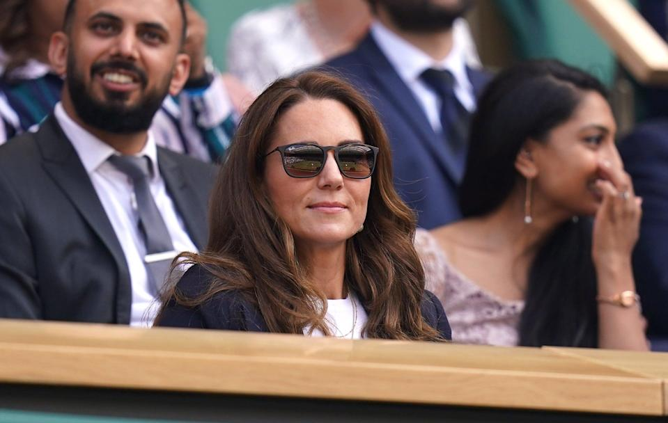 Last week, Kate delighted tennis fans with her surprise appearance at Wimbledon (PA Wire)