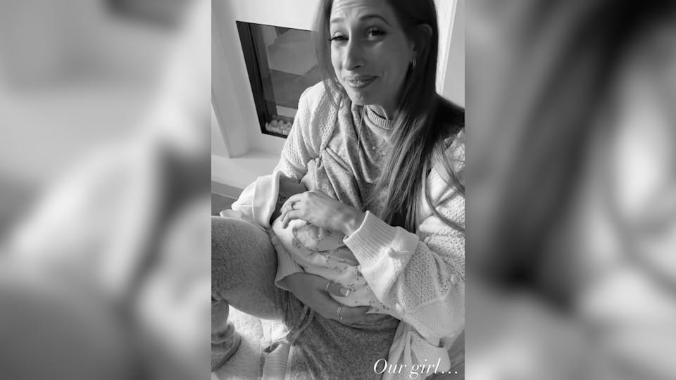 Stacey Solomon welcomes baby girl at home in Pickle Cottage