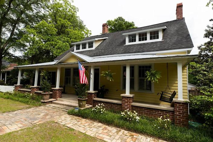 The Landrum Stork house is the oldest house in Forest Acres. Bricks from the Stork family's factory are used in the home's construction.
