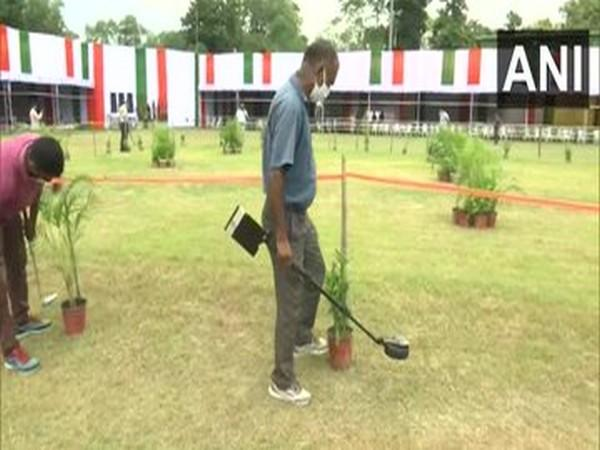 Police conducted a security check at Judges Field in Guwahati where Independence Day function will be organised. [Photo/ANI]
