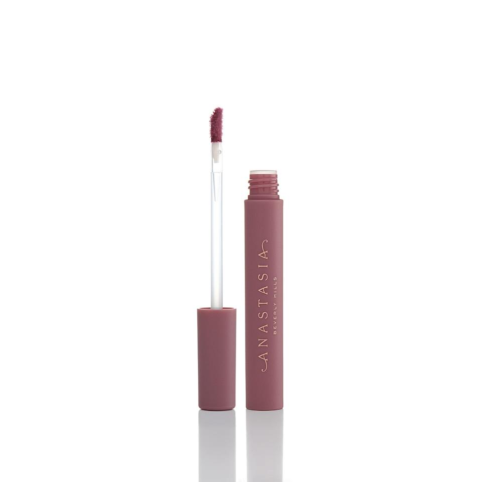 "<p><product href=""https://www.anastasiabeverlyhills.com/lip-stain/lip-stain.html"" target=""_blank"" class=""ga-track"" data-ga-category=""Related"" data-ga-label=""https://www.anastasiabeverlyhills.com/lip-stain/lip-stain.html"" data-ga-action=""In-Line Links"">Anastasia Beverly Hills Lip Stain in Dusty Rose</product> ($18)</p>"