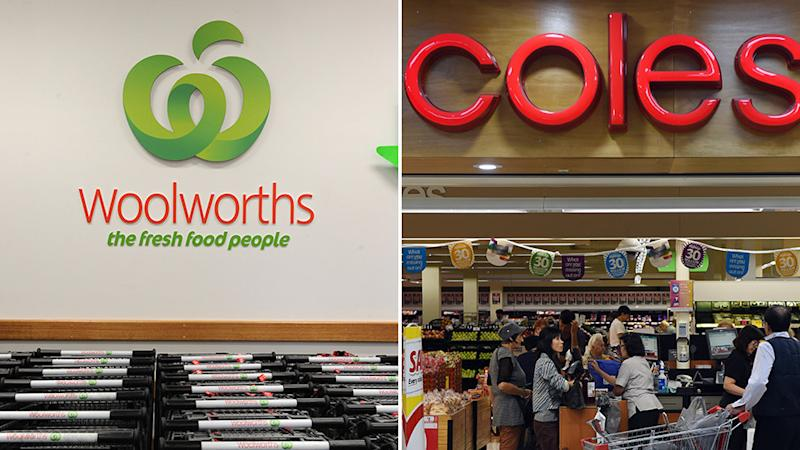 Pictures of Woolworths and Coles stores