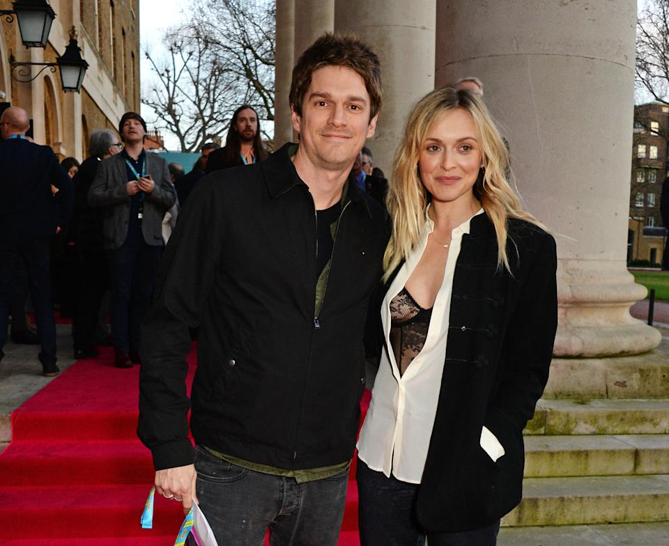 LONDON, ENGLAND - APRIL 04:  Jesse Wood (L) and Fearne Cotton attend a private view of 'The Rolling Stones: Exhibitionism' at The Saatchi Gallery on April 4, 2016 in London, England.  (Photo by David M. Benett/Dave Benett/Getty Images)