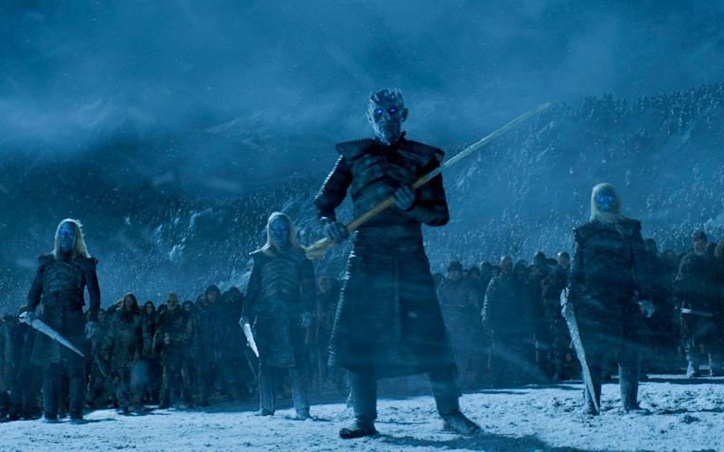 The Night King with his White Walkers - Credit: HBO