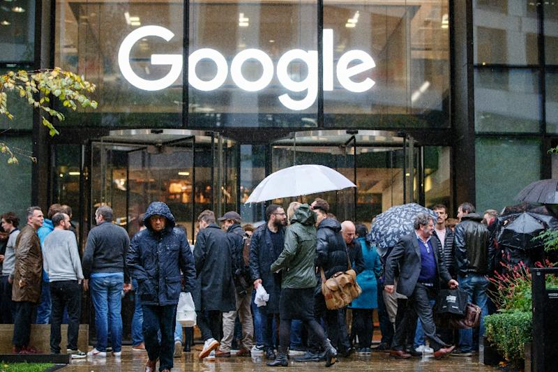Concerns about Google's response to sexual misconduct claims sparked a global walkout by employees, including at the internet giant's London office, seen here (AFP Photo/Tolga Akmen)