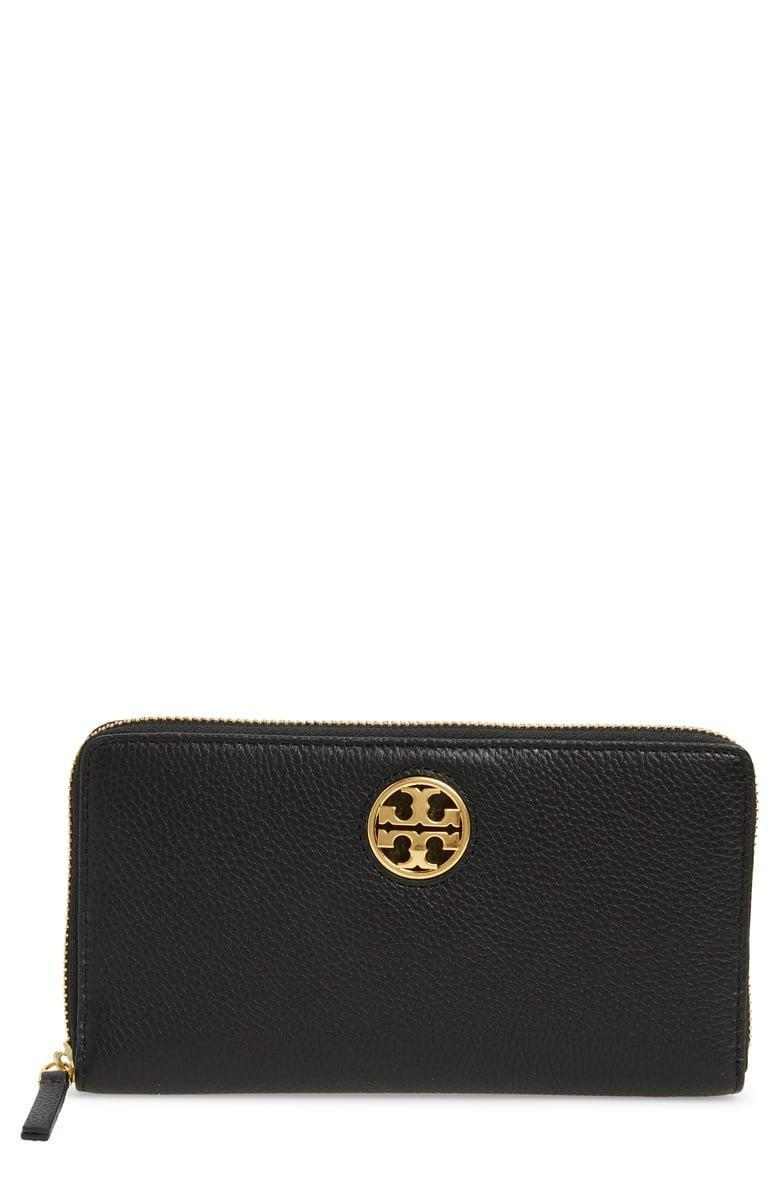 <p><span>Tory Carson Zip Leather Continental Wallet</span> ($135, originally $228)</p>