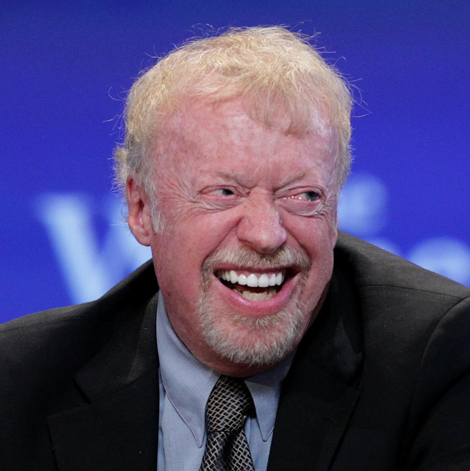 LONG BEACH, CA - OCTOBER 26: Phil Knight, Co-Founder, Chairman of Nike speaks during the Maria Shriver Women's Conference at the Long Beach Convention Center on October 26, 2010 in Long Beach, California.  (Photo by Frederick M. Brown/Getty Images)