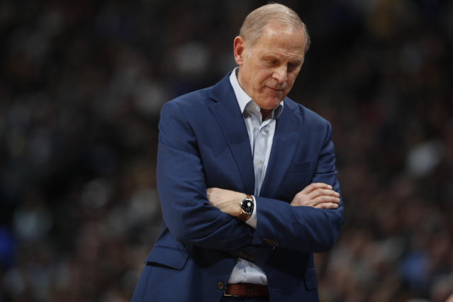 "<a class=""link rapid-noclick-resp"" href=""/nba/teams/cleveland/"" data-ylk=""slk:Cleveland Cavaliers"">Cleveland Cavaliers</a> head coach John Beilein made a statement making his resignation official. (AP Photo/David Zalubowski)"