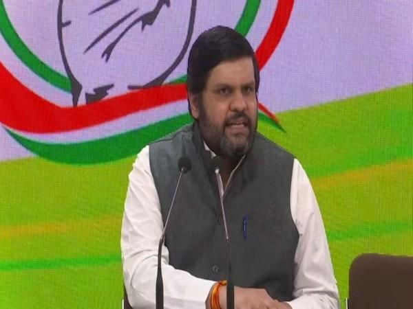 Congress leader Gourav Vallabh speaking to reporters in New Delhi on Friday. [Photo/ANI]