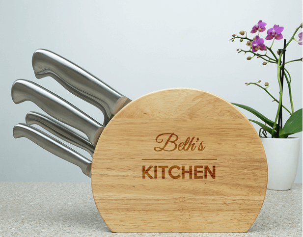 The Personalised Gift Shop Their Personalised 5pc Stainless Knife Set - $99.95
