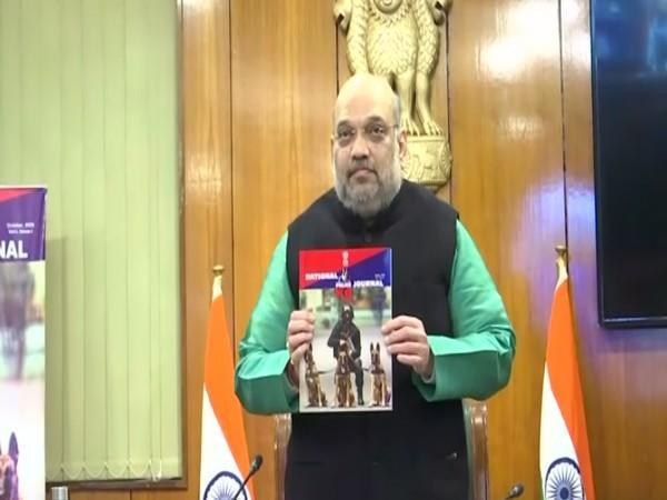 Union Home Minister Amit Shah released the National Police K-9 Journal in New Delhi on Saturday [Photo/ANI]