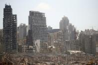 FILE PHOTO: Aftermath of Tuesday's blast in Beirut's port area