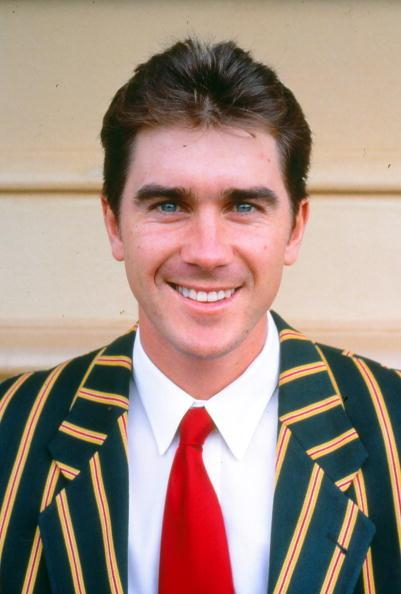 AUSTRALIA - UNDATED: A portrait of Justin Langer of Australia. (Photo by Getty Images)