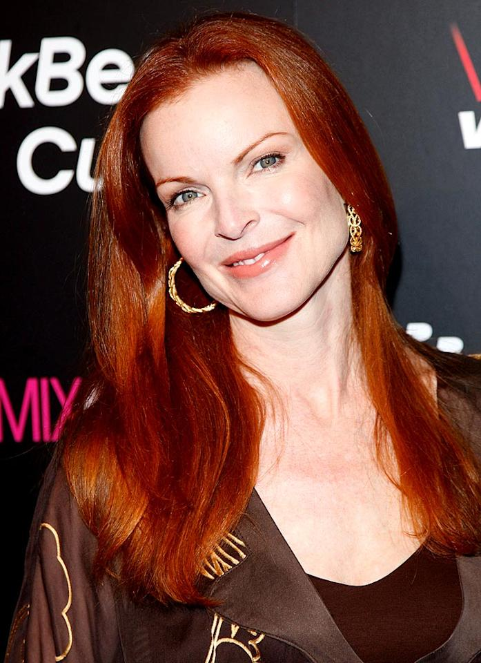 "What looks best with a head of red? Peaches 'n' cream skin like Marcia Cross has. Frazer Harrison/<a href=""http://www.gettyimages.com/"" target=""new"">GettyImages.com</a> - August 27, 2008"
