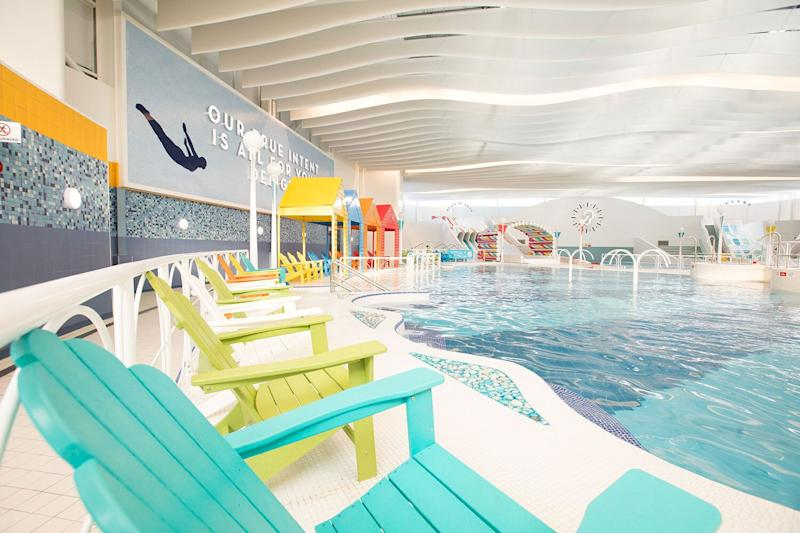There's plenty of seats for those taking time out from the pool, and a cafe too. (Butlin's)