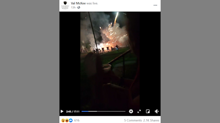 A U-Haul truck filled with fireworks caught fire and exploded in Toledo, Ohio.
