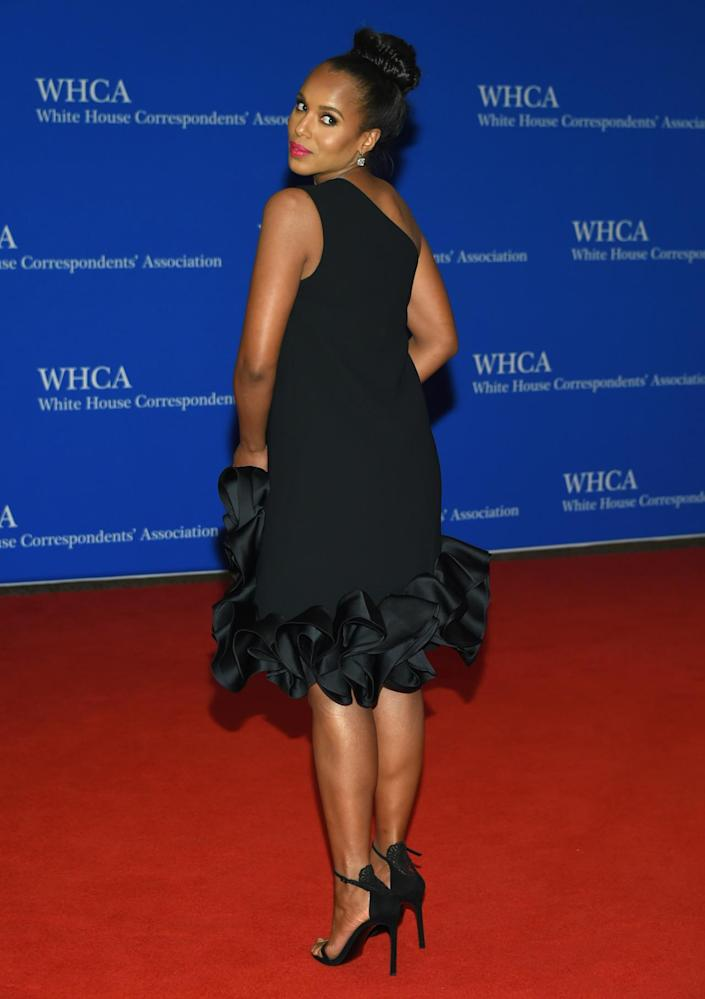 <p>Kerry Washington arrives at the White House Correspondents' Dinner, April 30. <i>(Photo: Evan Agostini/Invision/AP)</i></p>