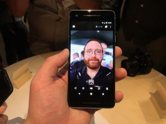The Pixel 2 and Pixel 2 XL support Portrait mode with the front and rear-facing cameras, which blurs the background and keeps the foreground in focus.
