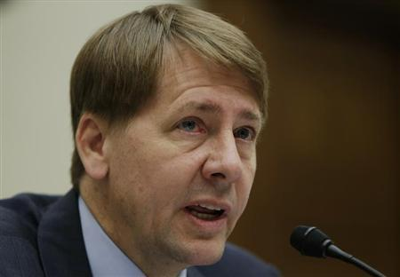 Consumer Financial Protection Bureau Director Cordray testifies before the House Financial Services Committee in Washington