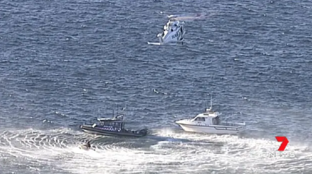 Emergency services at the scene of the accident in Cape Solander, Australia, where a British teenager died