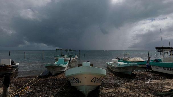 PHOTO: Boats sit closer to the shore after they were secured by fishermen preparing for the arrival of Hurricane Delta in Puerto Juarez, Cancun, Mexico, Oct. 6, 2020. (Victor Ruiz Garcia/AP)