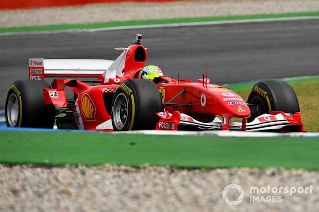 "Mick Schumacher, Ferrari F2004 <span class=""copyright"">Sam Bloxham / Motorsport Images</span>"