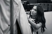 <p>When Meghan announced the news that should would be guest editing the September issue of British Vogue, she shared this black and white photo in which she is reportedly wearing a Gucci dress.</p>