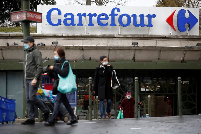 Carrefour hypermarket store in France