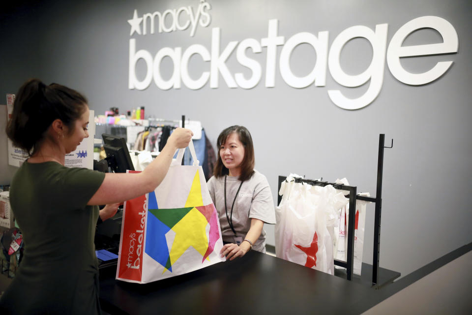 IMAGE DISTRIBUTED FOR MACY'S - Macy's at Chula Vista Center prepares for the Grand opening of its off-price shopping experience, Macy's Backstage, on Wednesday, Sept. 12, 2018 in Chula Vista, Calif. Grand opening events to take place on Saturday, September 15 at 9 am (Sandy Huffaker/AP Images for Macy's)