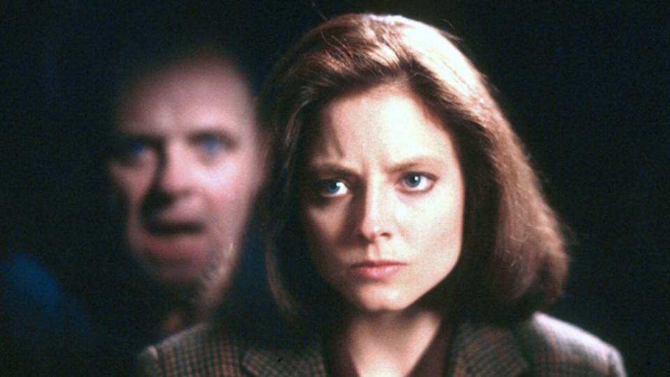 Anthony Hopkins and Jodie Foster in The Silence Of The Lambs (Credit: Orion Pictures)