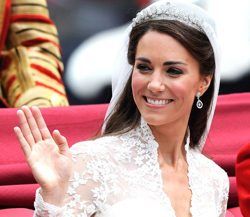 The Bobbi Brown eyeliner the Duchess of Cambridge wore on her wedding day is also a favorite among Nordstrom shoppers. (Photo: Getty Images)
