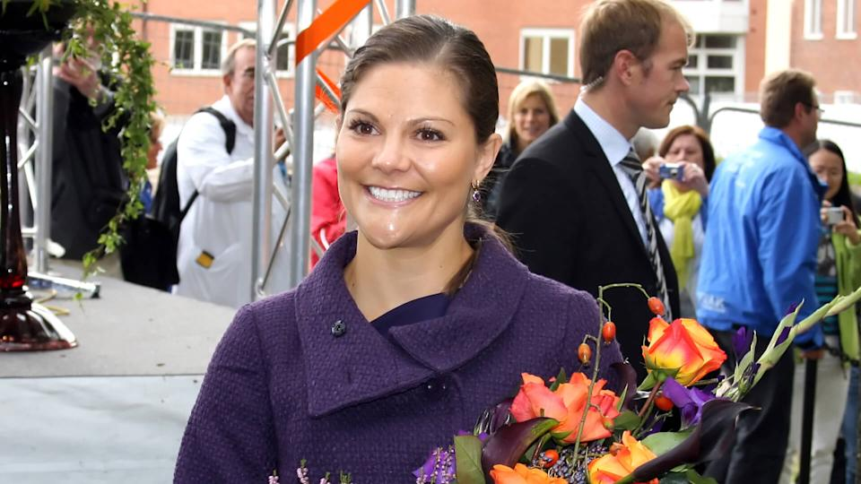 STOCKHOLM, SWEDEN- SEPT 3: Her Royal Highness Crown Princess Victoria at the ground-breaking ceremony for the New Karolinska Solna-Stockholm (Sweden) Sept 3, 2010 in Stockholm.