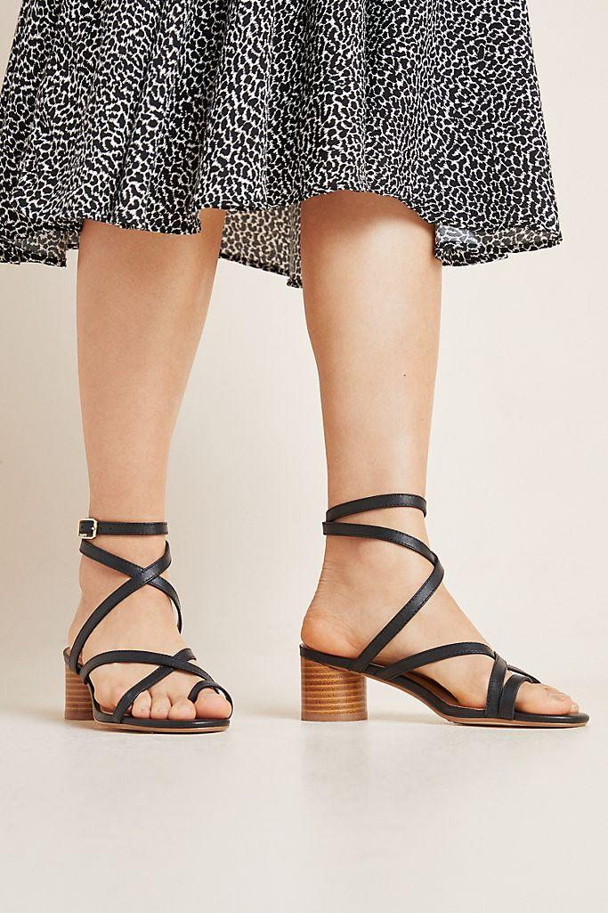 Quinn Strappy Heels. Image via Anthropologie.